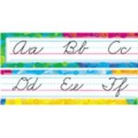 Cursive Color Splash Alphabet Bulletin Board Sets / BBS; no. T-8053