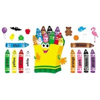 Colorful Crayons Bulletin Board Sets / BBS; no. T-8076