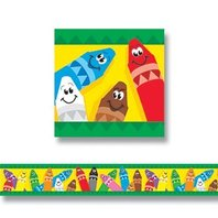Colorful Crayons Bolder Borders
