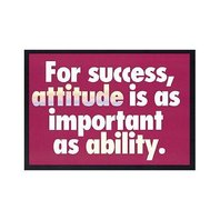 Argus Poster: For Success, Attitude Is As Important; no. T-A62681