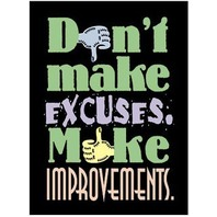 Argus Poster: Don't Make Excuses, Make Improvements; no. T-A62785