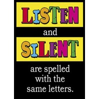 Argus Poster: Listen & Silent Are Spelled With The Same Letters