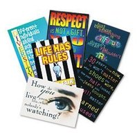 Trend TA6682 Argus large 13-3/8 x 9 poster combo pack, building character, 6/pack