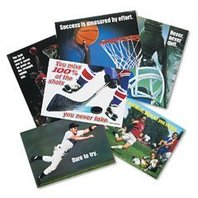 Trend TA6685 Argus large 13-3/8 x 9 poster combo pack, sports motivating, 6/pack
