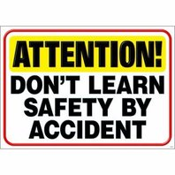 ATTENTION! Don't learn SAFETY...