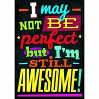 I may not be perfect but I'm...