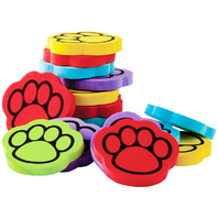 FOAM 100 IN 5 COLOR PAW PRINT