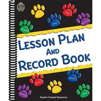 """Teacher Created Resources Paw Prints Lesson Plan and Record Book with Monthly Planner, 160 Pages, 8-1/2"""" x 11"""""""