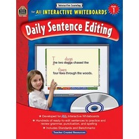 Interactive Learning: Daily Sentence Editing, Grade 1