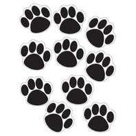 Teacher Created Resources Accents, Black Paw Print (4277)