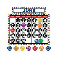Teacher Created Resources Calendar Bulletin Board Display, Colorful Paw Prints (4328)