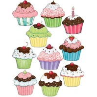 Teacher Created Resources SW Cupcake Accents (4706)