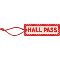 Teacher Created Resources Polka Dots Hall Pass (red), Red (4753)