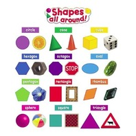 Teacher Created Resources Shapes All Around Mini Bulletin Board, Multi Color (4784)