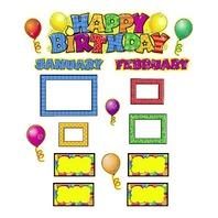 Teacher Created Resources Happy Birthday Mini Bulletin Board, Multi Color (4868)