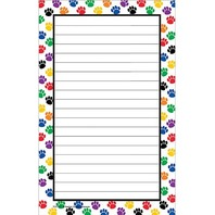 Teacher Created Resources Colorful Paw Prints Notepad, Multi Color (5087)