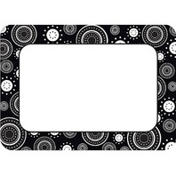 Teacher Created Resources Black/White Crazy Circles Name Tags (5169)