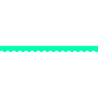TEAL SOLID SCALLOPED BORDER TRIM