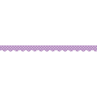 ORCHID POLKA DOTS SCALLOPED BORDER