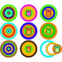 POP OUTS WITH PIZZAZZ MOD CIRCLES