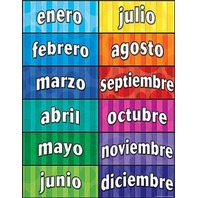 Teacher Created Resources Months of the Year (Spanish) Chart, Multi Color (7693)