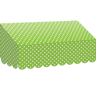LIME POLKA DOTS AWNING