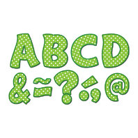 LIME POLKA DOTS FUNTASTIC FONT 3IN
