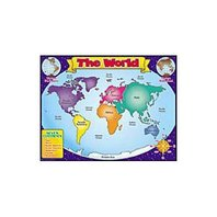 Teachers Friend TF-2141 World Map Friendly Chart 17x22