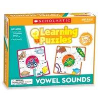 Scholastic Teacher's Friend Vowel Sounds Learning Puzzles, Multiple Colors (TF7153)