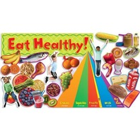 Scholastic Nutrition with Food Pyramid Mini Bulletin Board (TF8071)