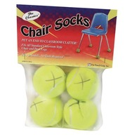The Classics Chair Sox, Yellow, 4 Count (TPG-230)