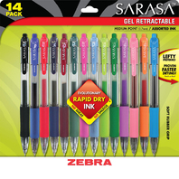 SARASA GEL RETRACTABLE GEL PENS