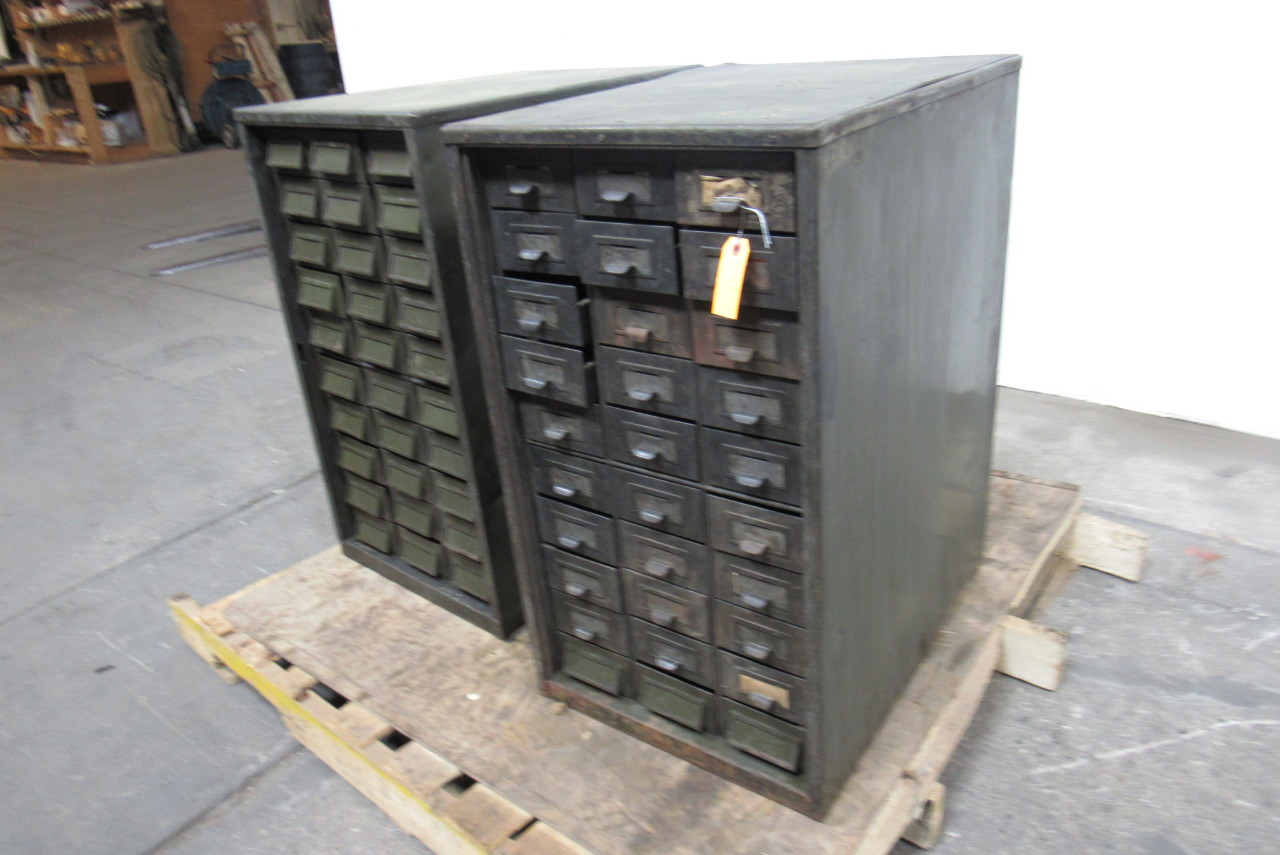 Addressograph Style 30 Drawer Steel Cabinet Steampunk Industrial
