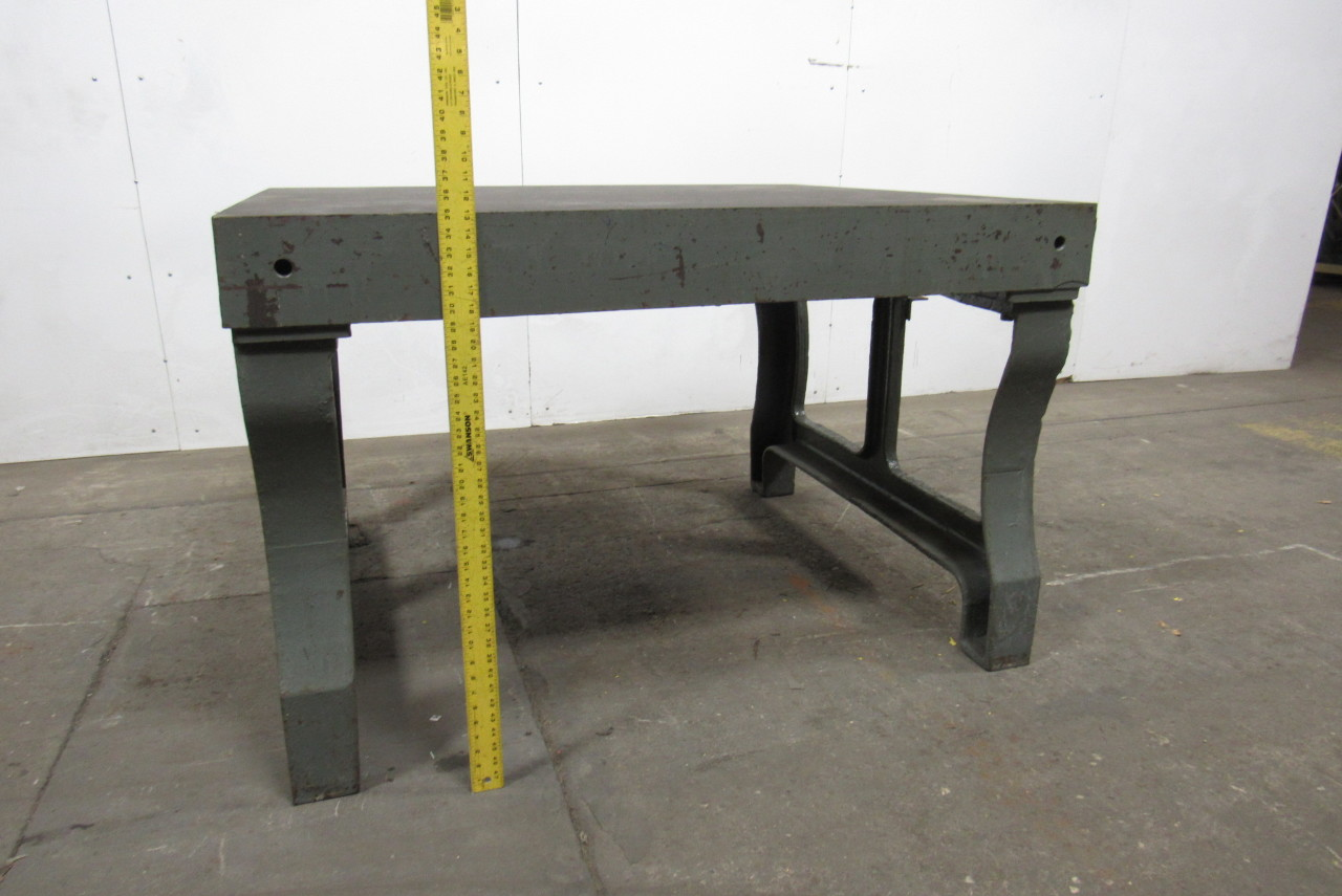 Vintage Cast Iron Welding Layout Inspection Work Table Bench W Cast Iron Legs Ebay