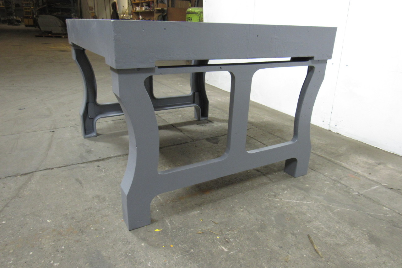 Vintage Cast Iron Welding Layout Inspection Work Table