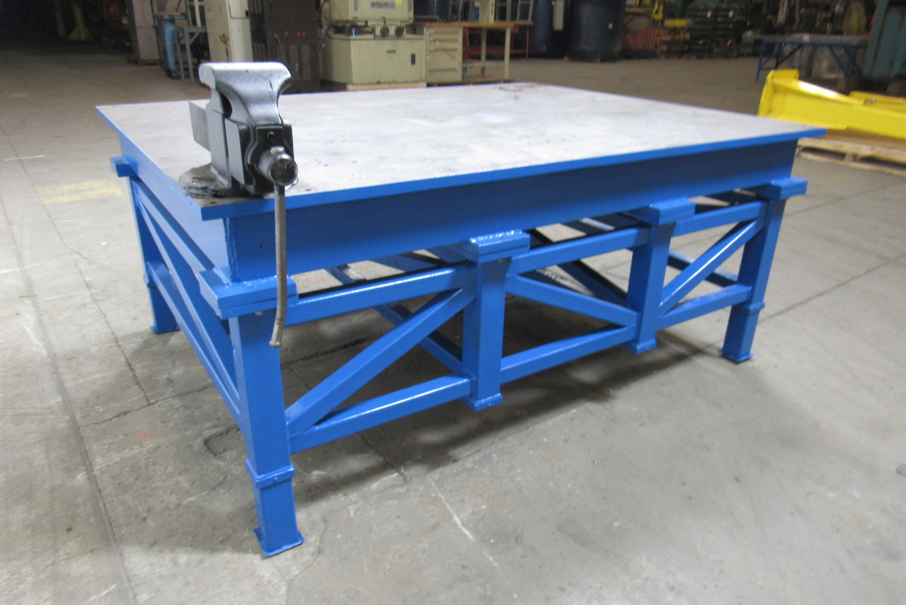 Very Nice Welding Layout Work Table Bench 78x60x34 034 1 034 Thick Top Ebay