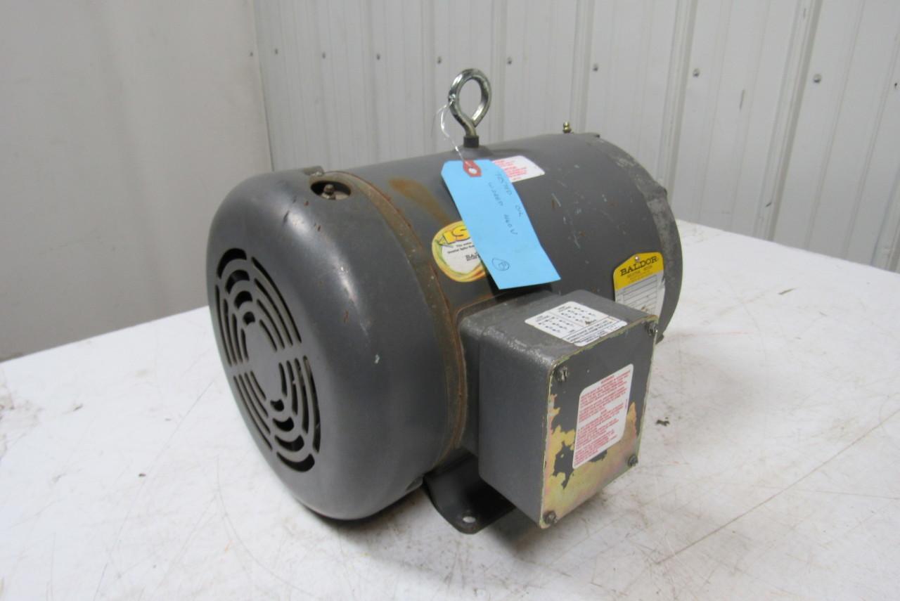 Baldor M3707 5 Hp Electric Motor 230 460v 3ph 1725rpm 215