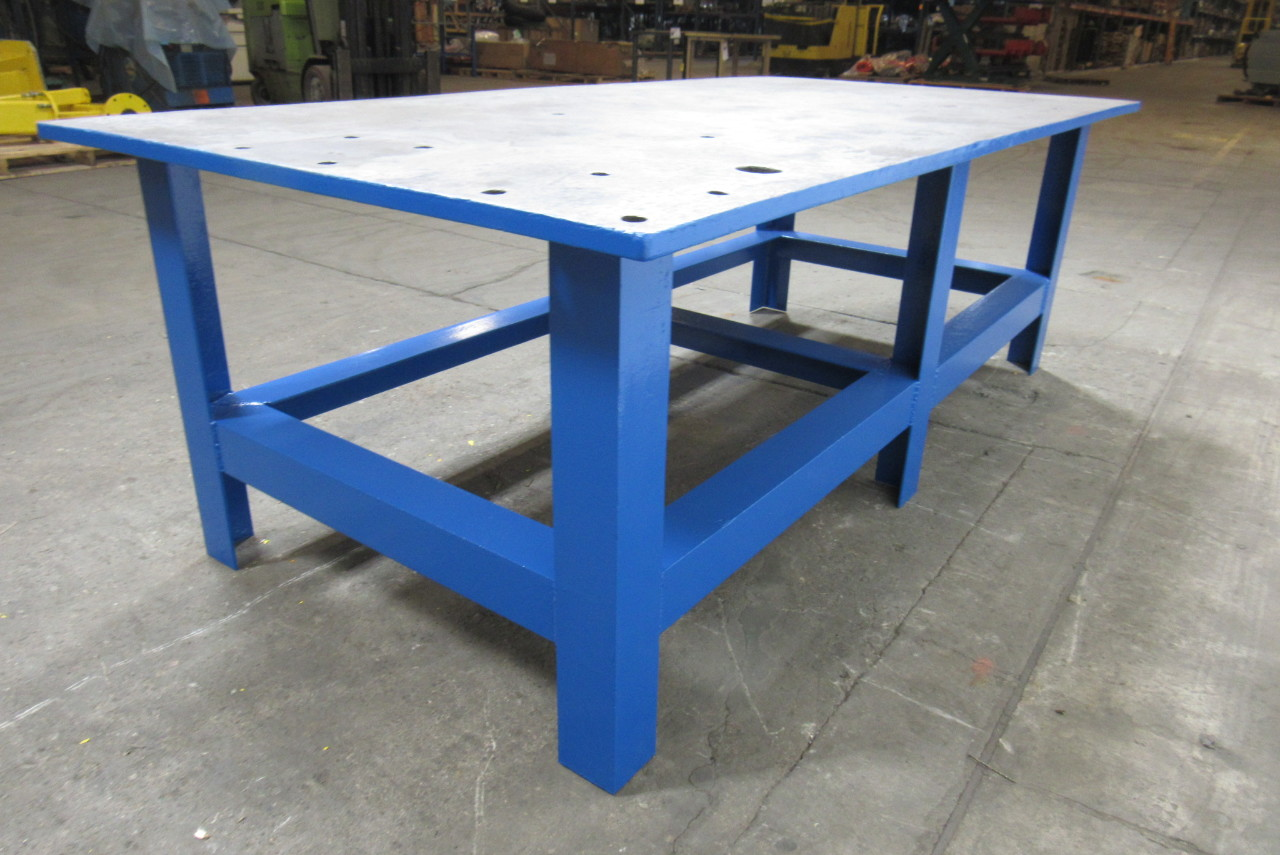 48x96x32 Tall Steel Welding Layout Work Table Bench 1