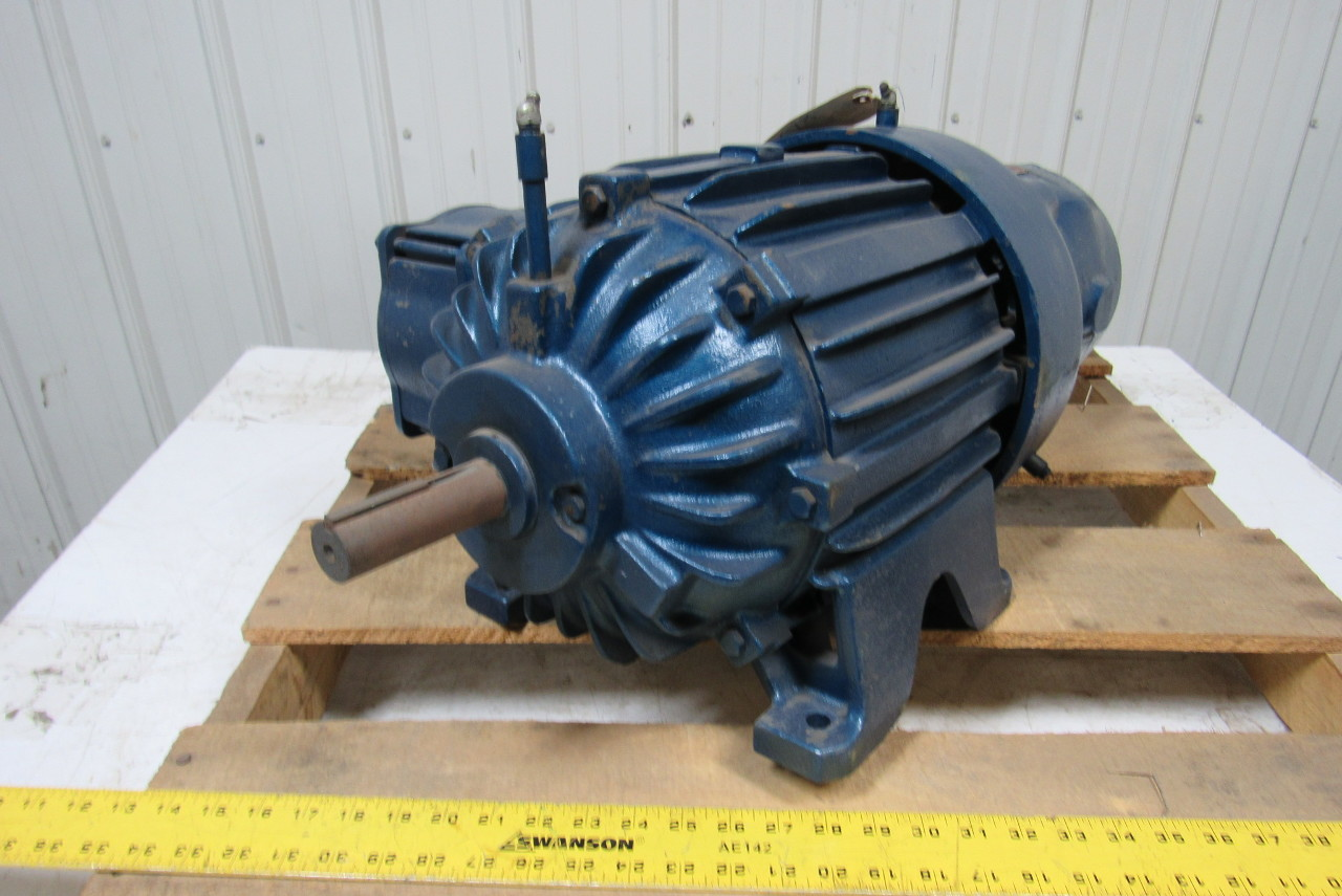 Allis chalmers apzz cast iron brake motor 2 hp 860 rpm 220 for Allis chalmers electric motor