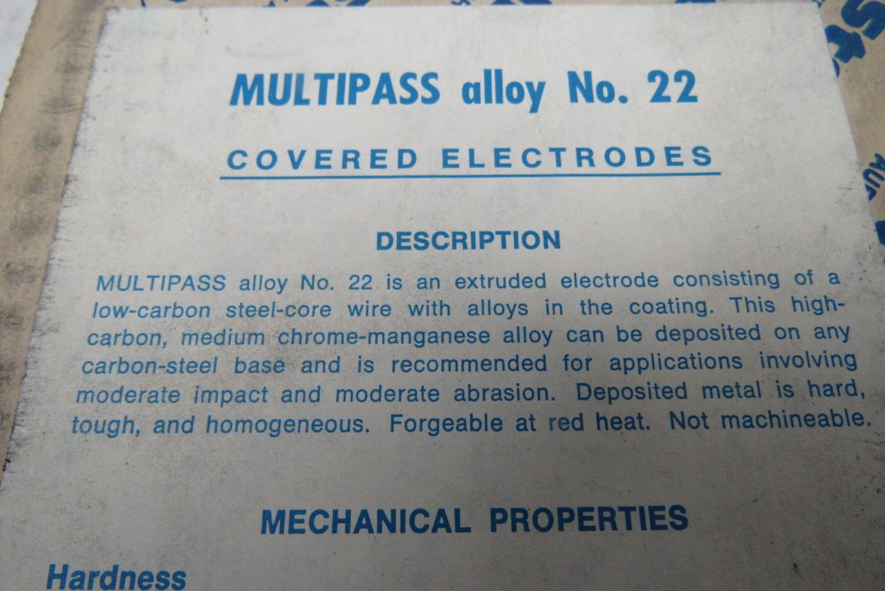 stellite multipass alloy 22 1 8 x14 hardfacing welding electrode