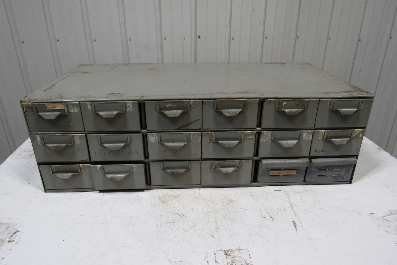 18 Drawer Industrial Steel Small Parts Bin Storage Cabinet
