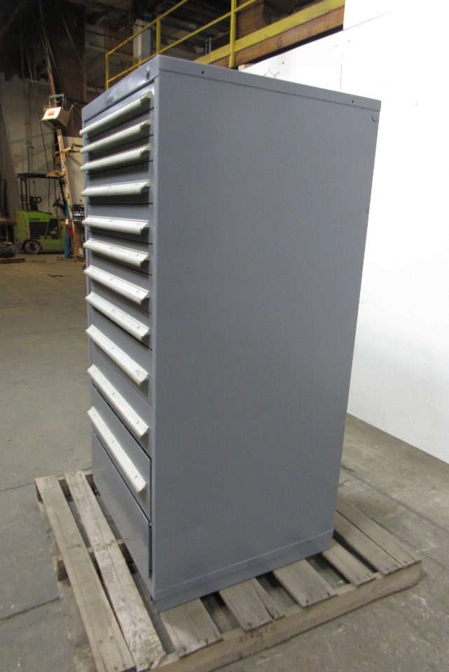 Steel 12 Drawer Industrial Tool Blueprint Parts Storage