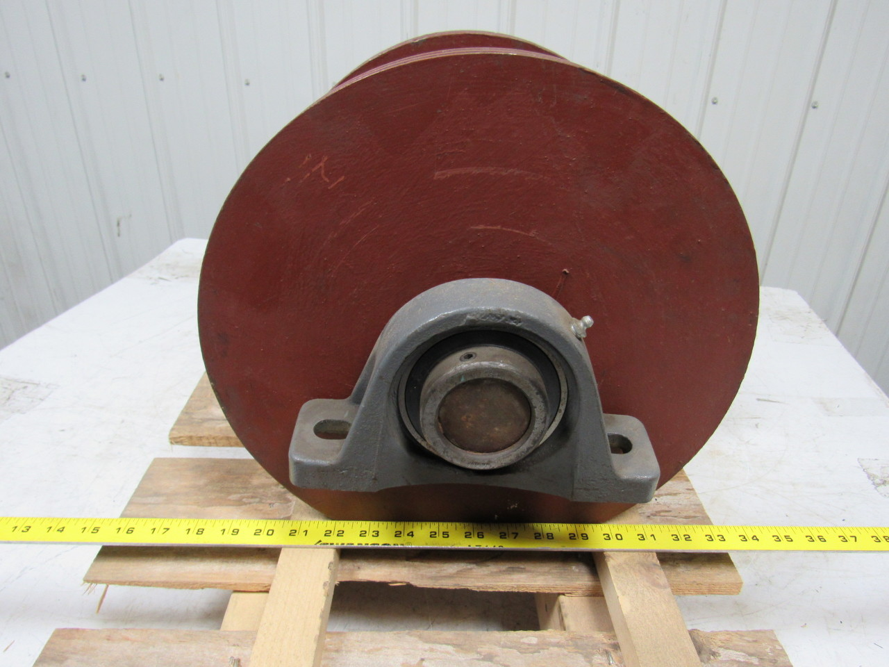 Industrial steel cable spool quot shaft dia wide