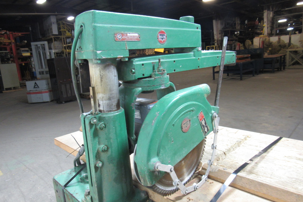 "Rockwell Delta 12"" Radial Arm Saw 480V Only W/Manual ..."
