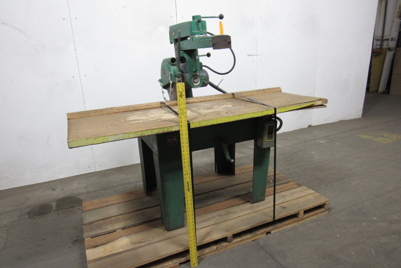 Rockwell Delta 12 Radial Arm Saw 480v Only W Manual Starter Swing Arm Type Ebay