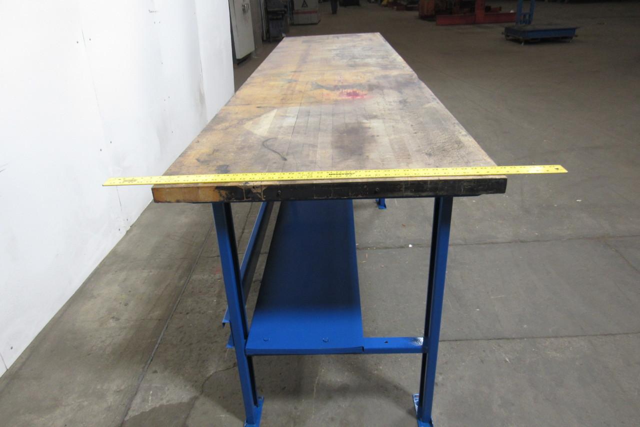 bally block 144 x36 vintage industrial butcher block work bench table counter. Black Bedroom Furniture Sets. Home Design Ideas