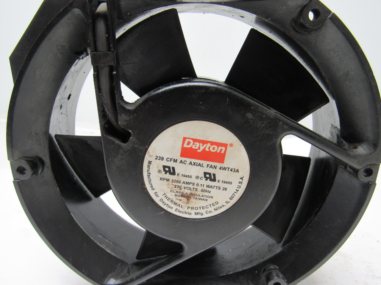 20 Axial Fan : Dayton wt a axial fan vac rpm cfm ebay