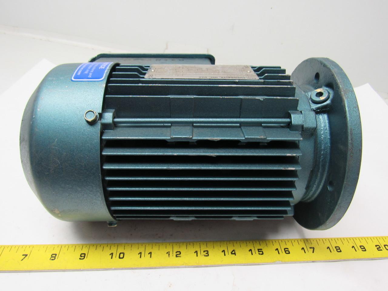 Sew eurodrive dft80k4 3 4 hp electric motor 230 460v 3ph for 3 hp electric motor