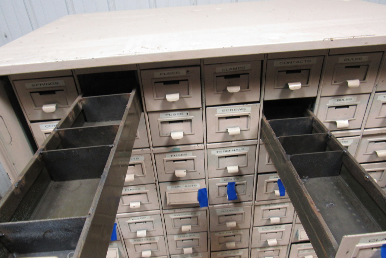 ... 48 Drawer Vintage Industrial Steel Small Parts Storage Cabinet ...