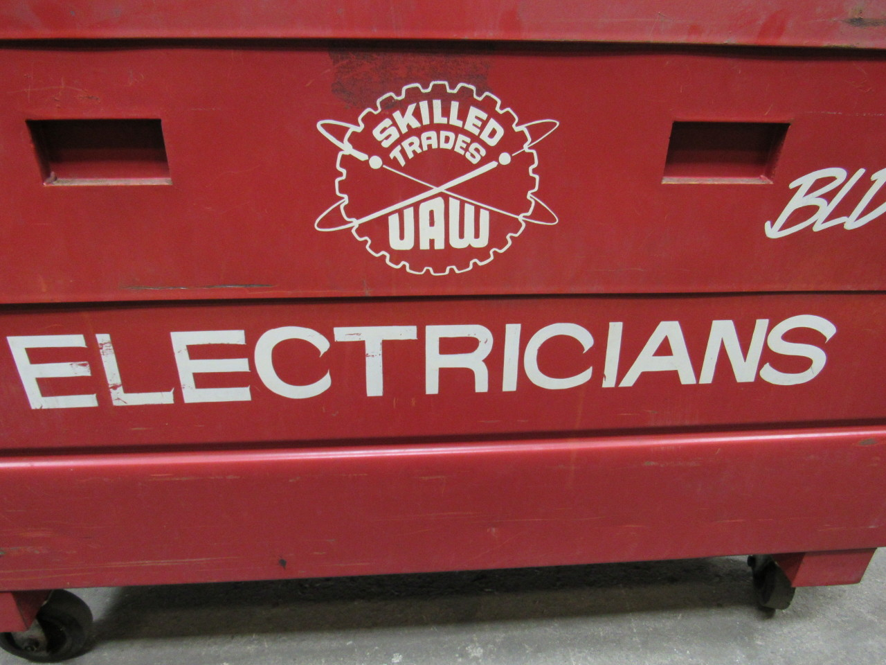 Dayton 6c696 Rolling Lockable Job Box Tool Box Gang Box 60